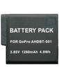 GoPro AHDBT-501 Усиленный Аккумулятор 1260mАh для видеокамер Hero 3+, Hero 3 (аналог), Li-ion.