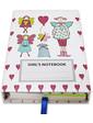 Старт-Полиграф Блокнот со стикерами Post-it, в твердой обложке «Эльфочки» в комплекте с чехлом