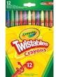 Crayola Выкручивающиеся цветные восковые мелки (12 шт),