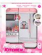 Qun Feng Toys Кухня кукольная со световыми и звуковыми эффектами, Розовая 4,