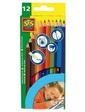 SES Набор цветных карандашей 12 цветов