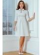 Vilenna Стильное трикотажное платье с отделкой кантом. Артикул: 3466