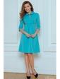 Vilenna Стильное трикотажное платье с отделкой кантом. Артикул: 3467