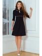 Vilenna Стильное трикотажное платье с отделкой кантом. Артикул: 3468