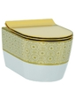 Idevit Alfa Iderimless 3104-2616-1101 белый/декор золото
