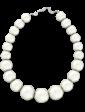 Lambre Ожерелье из крупного белого жемчуга