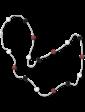 Lambre Серебряное ожерелье с цветными бусинами