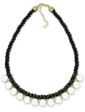 Lambre Ожерелье - жемчуг на черной нити