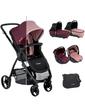 Be Cool Универсальная коляска 3 в 1 SLIDE COCOON ZERO Coupage, вишнево-розовая, (841/640)