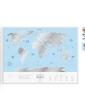 Скретч карта мира Travel Map Silver World