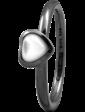 Christina Charms Кольцо CC 800-1.3.D/57 Heart mother of pearl black