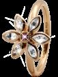 Christina Charms Кольцо CC 800-3.6.B/61 Marquise Flower goldpl