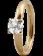 Christina Charms Кольцо CC 800-3.11.B/59 Topaz Solitaire gold