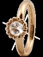 Christina Charms Кольцо CC 800-3.5.B/55 Crystal Flower goldpl