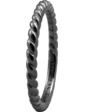 Christina Charms Кольцо CC 800-0.1.D/61 Rope Black ruth silver